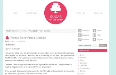 http://sugarforthebrain.com/2012/06/23/peanut-butter-fudge-crackles/
