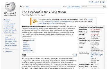 http://en.wikipedia.org/wiki/The_Elephant_in_the_Living_Room
