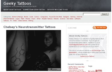 http://www.geekytattoos.com/chelseys-neurotransmitter-tattoos/