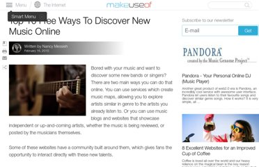 http://www.makeuseof.com/tag/top-10-free-ways-discover-music-online/