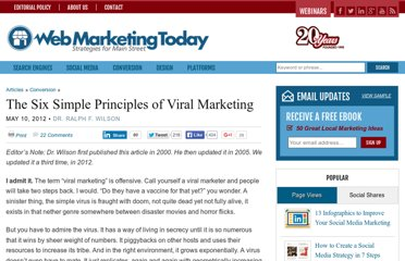 http://webmarketingtoday.com/articles/viral-principles/
