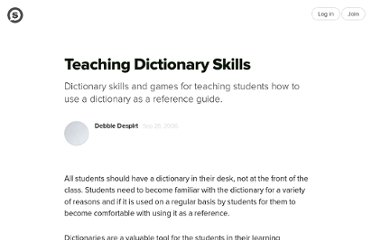 http://suite101.com/article/teaching-dictionary-skills-a7204