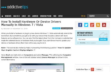 http://www.addictivetips.com/windows-tips/how-to-install-hardware-or-device-drivers-manually-in-windows-vista/