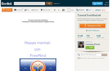 http://it.scribd.com/doc/4883123/Tutorial-FreeMind-08
