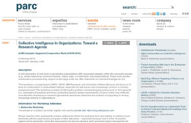 http://www.parc.com/event/980/collective-intelligence-in-organizations.html
