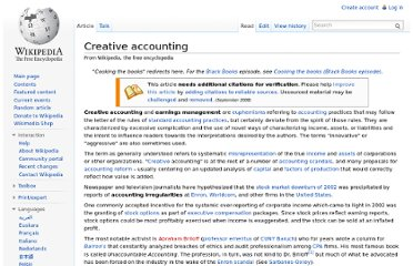 http://en.wikipedia.org/wiki/Creative_accounting