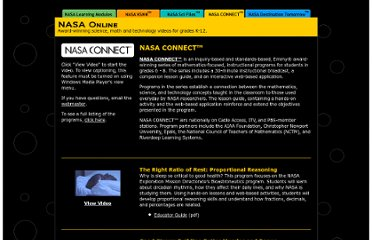 http://www.knowitall.org/nasa/connect/index.html