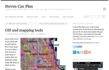http://www.stevencanplan.com/2009/gis-and-mapping-tools/