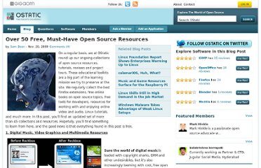 http://ostatic.com/blog/over-50-free-must-have-open-source-resources