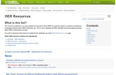 http://wiki.creativecommons.org/OER_Resources