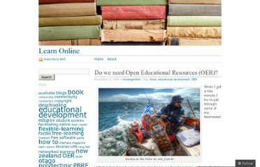 http://learnonline.wordpress.com/2008/11/13/do-we-need-open-educational-resources-oer/