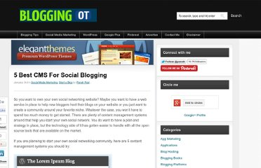 http://www.bloggingot.com/blogging-tips/start-blogging/5-best-cms-for-social-blogging/