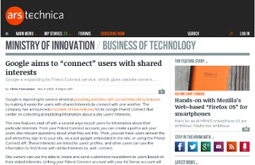 http://arstechnica.com/web/news/2009/11/google-aims-to-connect-users-with-shared-interests.ars