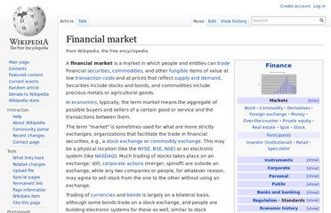 http://en.wikipedia.org/wiki/Financial_market