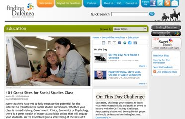 http://www.findingdulcinea.com/news/education/2010/march/101-Great-Sites-for-Social-Studies.html