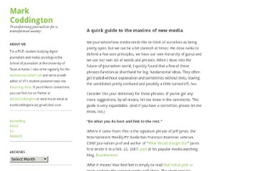 http://markcoddington.com/2010/01/30/a-quick-guide-to-the-maxims-of-new-media/