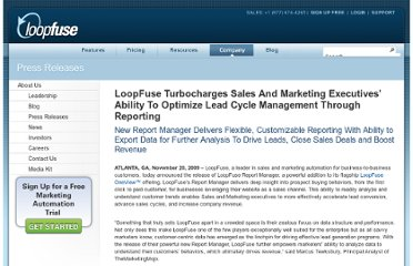 http://www.loopfuse.com/news/press-releases/optimize-lead-cycle-management-through-reporting.php
