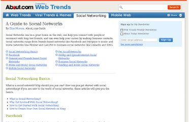 http://webtrends.about.com/od/socialnetworking/u/list-of-social-networks-guide.htm
