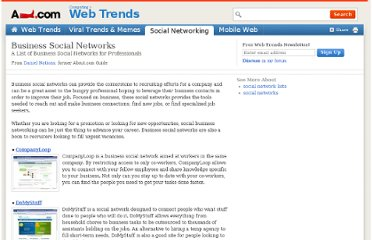 http://webtrends.about.com/od/socialnetworks/tp/business-social-networks.htm