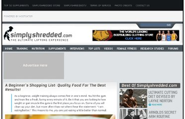 http://www.simplyshredded.com/a-beginners-shopping-list-quality-food-for-the-best-results.html