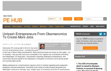 http://www.pehub.com/61027/unleash-entrepreneurs-from-obamanomics-to-create-more-jobs/