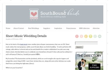 http://www.southboundbride.com/sheet-music-wedding-details/