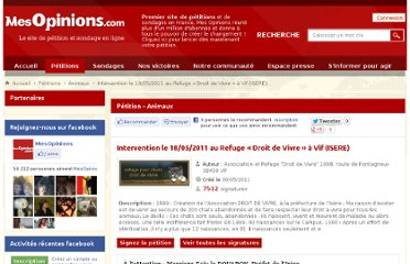 http://www.mesopinions.com/petition/animaux/intervention-18-05-2011-refuge-droit/7104#signer-petition