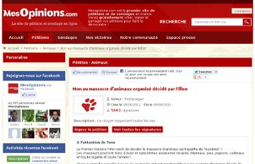 http://www.mesopinions.com/petition/animaux/massacre-animaux-organise-decide-fillon/5434#signer-petition