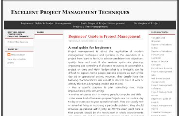 http://technique4management.blogspot.com/2009/11/beginners-guide-in-project-management.html