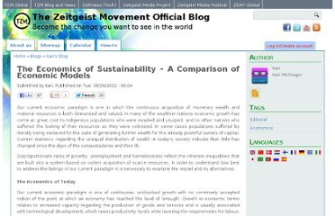 http://blog.thezeitgeistmovement.com/blog/kari/economics-sustainability-comparison-economic-models
