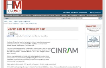 http://www.homemediamagazine.com/replicators/cinram-sold-investment-firm-27629