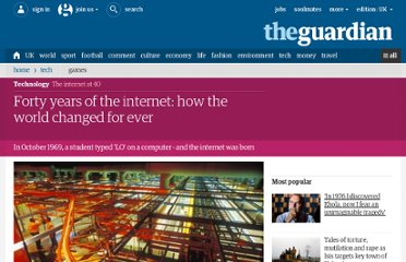 http://www.guardian.co.uk/technology/2009/oct/23/internet-40-history-arpanet