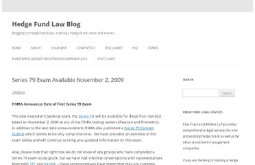 http://www.hedgefundlawblog.com/series-79-exam-available-november-2-2009.html