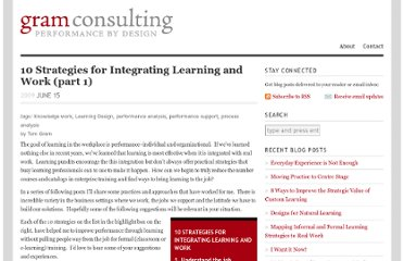 http://gramconsulting.com/2009/06/10-strategies-for-integrating-learning-and-work-part-1/