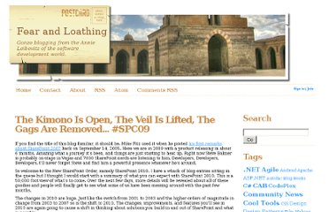 http://weblogs.asp.net/bsimser/archive/2009/10/19/the-kimono-is-open-the-veil-is-lifted-the-gags-are-removed-spc09.aspx