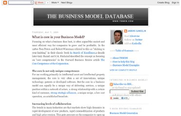 http://tbmdb.blogspot.com/2009/05/what-is-core-in-your-business-model.html
