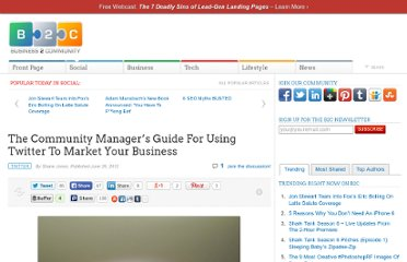 http://www.business2community.com/twitter/the-community-managers-guide-for-using-twitter-to-market-your-business-0203957