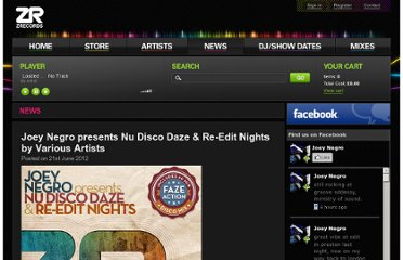http://www.zrecords.ltd.uk/news-item/Joey+Negro+presents+Nu+Disco+Daze+%26+Re-Edit+Nights+by+Various+Artists+/34