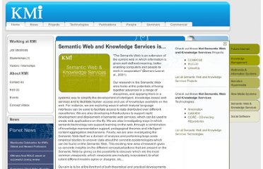 http://kmi.open.ac.uk/index.php?theme=semantic-web-and-knowledge-services
