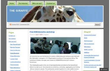 http://thegiraffe.wordpress.com/2009/06/07/first-ikm-interactive-workshop/