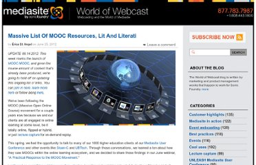 http://www.worldofwebcast.com/post/massive-list-of-mooc-resources-lit-and-literati