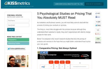 http://blog.kissmetrics.com/5-psychological-studies/