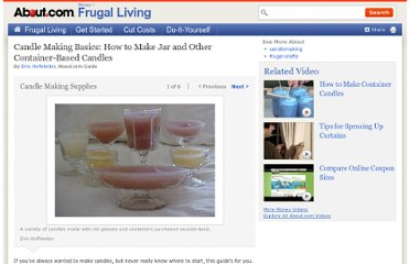http://frugalliving.about.com/od/craftsgifts/ss/Candle_making.htm