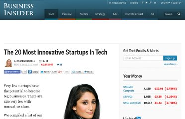 http://www.businessinsider.com/20-innovative-startups-2011-11?op=1#kaggle-is-a-network-of-17000-phd-level-people-that-help-each-other-solve-impossible-problems-2