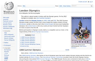 http://en.wikipedia.org/wiki/London_Olympics