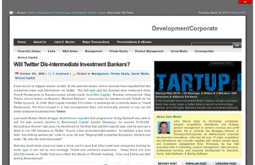 http://www.developmentcorporate.com/2009/10/05/will-twitter-dis-intermediate-investment-bankers/
