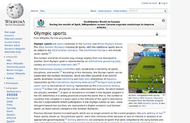 http://en.wikipedia.org/wiki/Olympic_sports