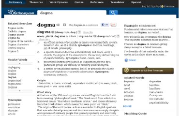 http://dictionary.reference.com/browse/dogma