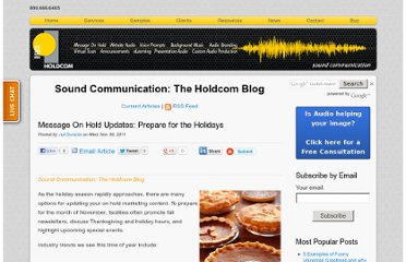 http://soundcommunication.holdcom.com/bid/77376/Message-On-Hold-Updates-Prepare-for-the-Holidays