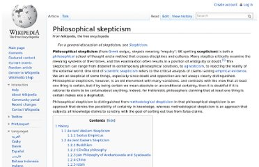 http://en.wikipedia.org/wiki/Philosophical_skepticism#Schools_of_philosophical_skepticism
